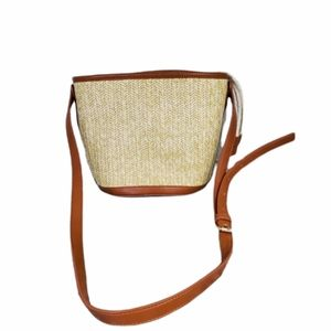Who What Wear Straw Bucket Bag